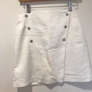 White Zara button mini skirt